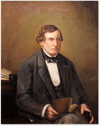 Portrait of William L. Hirst (1804-1876) Oil on Canvas, framed. American School 19th Century.