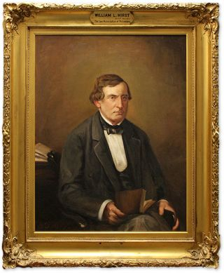 Portrait of William L. Hirst, Oil on Canvas, framed.