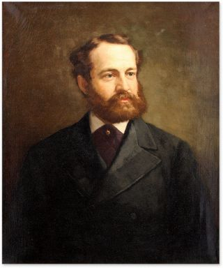Portrait of Lewis Waln Smith (D. 1881) Oil on Canvas, framed. American School 19th Century.