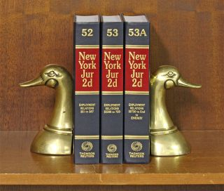 New York Jurisprudence 2d. Employment Relations. 3 Vols. 52 to 53A. Thomson Reuters