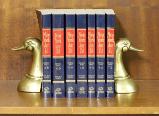 New York Jurisprudence 2d. General Index A-Z, 7 books. 2018-2019 ed. Thomson Reuters