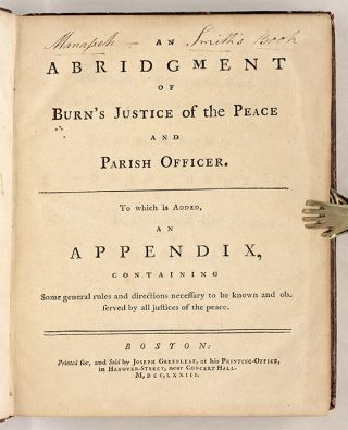 An Abridgment [Abridgement] of Burn's Justice of the Peace and Parish