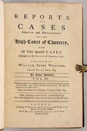 Reports of Cases Argued and Determined in the High Court of Chancery.