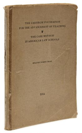 The Common Law and the Case Method in American University Law Schools. Josef Redlich.