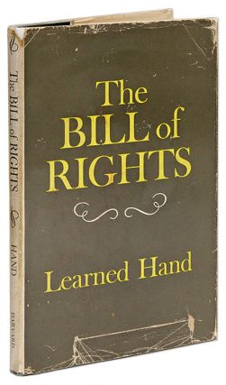The Bill of Rights, Inscribed and Signed by Learned Hand. Learned Hand