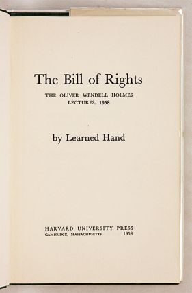 The Bill of Rights, Inscribed and Signed by Learned Hand.