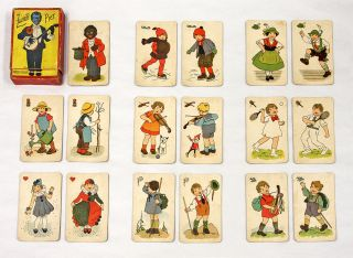 Zwarte Piet, Furth, c. 1925, 31 Color Cards. Playing Cards, Children's Games