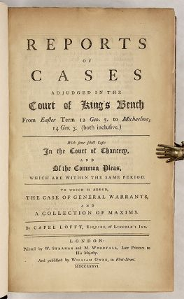 Reports of Cases Adjudged In The Court Of King's Bench from Easter...