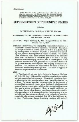 Slip Opinion) Patterson v McLean Credit Union, Certiorari, Signed. Supreme Court of the United...