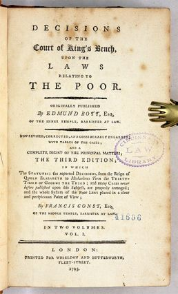 A Collection of Decisions of the Court of King's Bench Upon the...