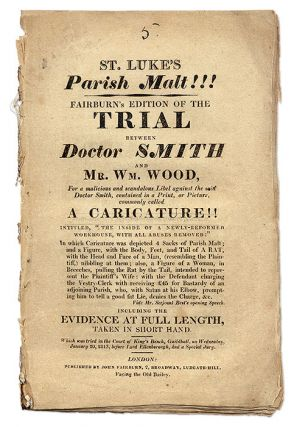 St. Luke's Parish Malt!!! Fairburn's Edition of the Trial Between. Trial, William Wood, Defendant