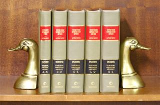 United States Supreme Court Reports General Index 5 vols w/2009 supps. LexisNexis.