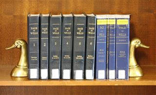 Page on the Law of Wills. Vols. 1-7; 2011 Tables & App thru 2014 supps. William Herbert Page,...