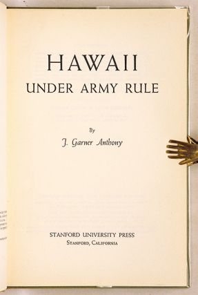Hawaii Under Army Rule