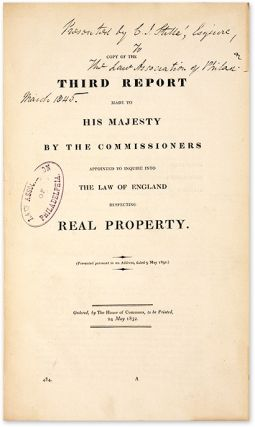 First[-Fourth] Report Made to His Majesty by the Commissioners...
