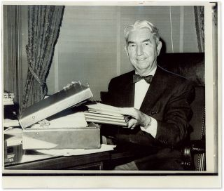 "6"" x 9-1/2"" Black-and-White Press Photograph of Justice Clark. Tom C. Clark"