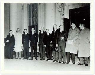 "7"" x 9"" Black-and-White Press Photograph of the Stone Court in 1942. United States Supreme Court."