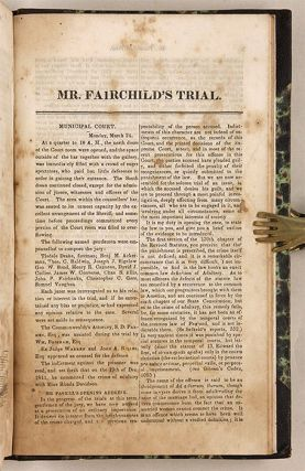Sammelband of Four Murder Trials and One Adultery Trial, 1830-1846.