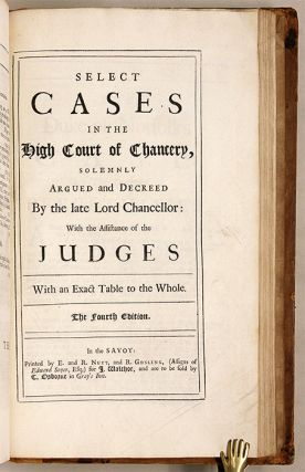 Cases Argued and Decreed in the High Court of Chancery [Bound with]...