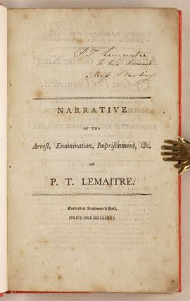 High Treason!! Narrative of the Arrest, Examinations Before the ...
