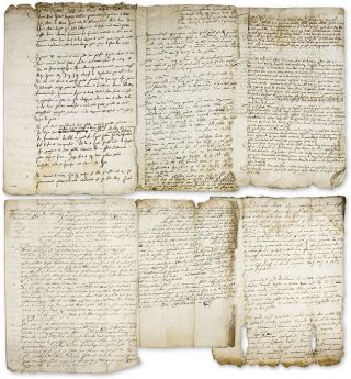Legal Documents Relating to Six Trials, Great Britain, 1631-1632. Manuscript Archive, Trials,...