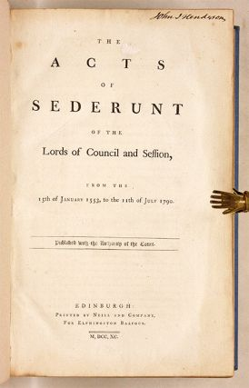 The Acts of Sederunt of the Lords of Council and Session, From the...