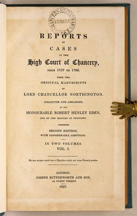 Reports of Cases in the High Court of Chancery, From 1757 to 1766.