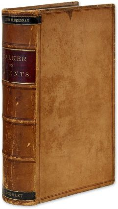 Text-Book of the Patent Laws of the United States of America. 1st Ed. Albert H. Walker