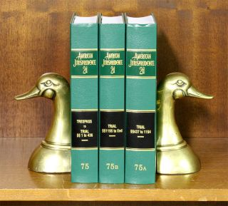 American Jurisprudence 2d. Vols 75-75B Trespass to Trial-End (3 books). Thomson Reuters