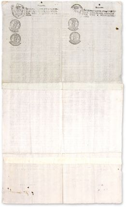 "Don Felix Maria Calleja, 28"" x 16-3/4"" Broadside, Mexico City, 1815."
