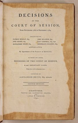 Decisions of the Court of Session, From November 1760 to November....