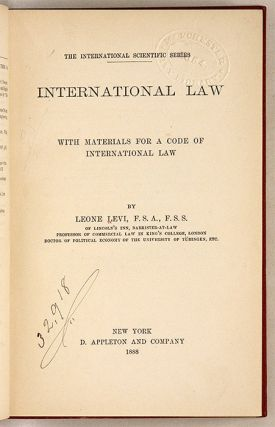International Law, With Materials for a Code of International Law.