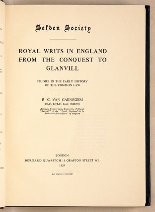 Royal Writs in England from the Conquest to Glanvill, Studies in ...