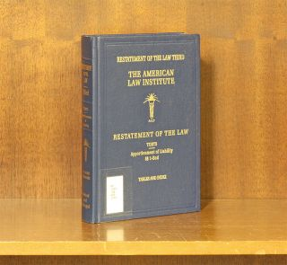 Restatement of the Law Torts 3d Apportionment of Liability w/2018 supp. American Law Institute