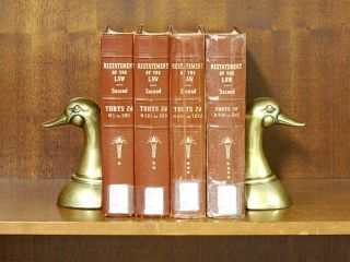Restatement of the Law 2d Torts. 4 Vols. Sections 1-End. (4 books). American Law Institute
