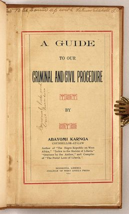 A Guide to our Criminal and Civil Procedure.