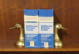 California Practice Guide: Civil Appeals and Writs. 2 Vols 2016 update. Jon B. Eisenberg