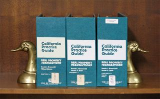 California Practice Guide: Real Property Transactions. 2 Vols. 2017. D. L. Greenwald, S A. Bank,...