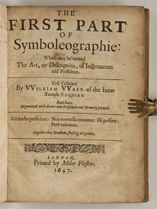 The First Part of Symboleography [with] Second Part, London, 1647-41.