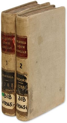 Bibliotheca Legum Angliae, Parts I & II, London, 1788, 2 books. John Worrall, Edward Brooke,...