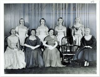 "7"" x 9-1/4"" Black-and-White Press Photograph of Wives of Supreme. United States Supreme Court"