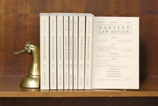 Harvard Law Review. Vol. 132 (2018-2019) complete, in 8 parts. Harvard Law Review Association