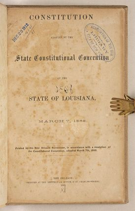 Constitution Adopted by the State Constitutional Convention of the...