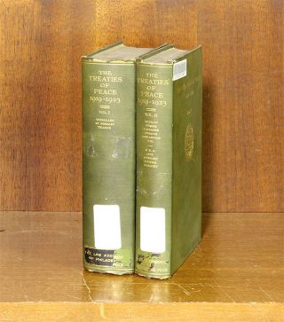 The Treaties of Peace, 1919-1923, 2 Vols. Lawrence Martin