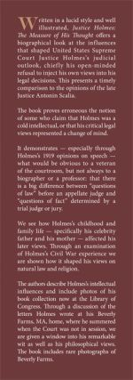 Justice Holmes: The Measure of His Thought.