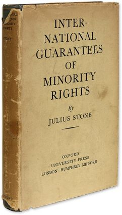 International Guarantees of Minority Rights, Procedure of the. Julius Stone