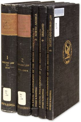 A Legal Bibliography of the British Commonwealth of Nations. 5 Vols. W. Harold Maxwell, Leslie F....