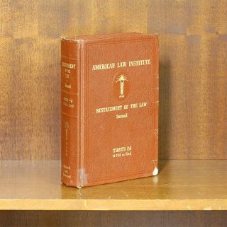 Restatement of the Law 2d Torts. Vol. 4. Sections 708-End. (1 book). American Law Institute