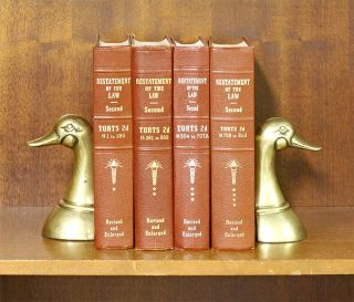 Restatement of the Law 2d Torts. 4 Vols. 1-End. (4 books). Complete. American Law Institute