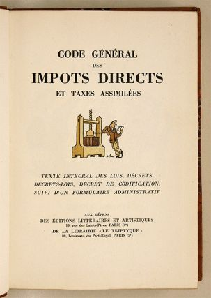 Code General des Impots Directs et Taxes Assimilees, Limited Edition`